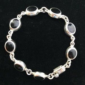 Jewelry - Sterling Silver & Onyx Bracelet